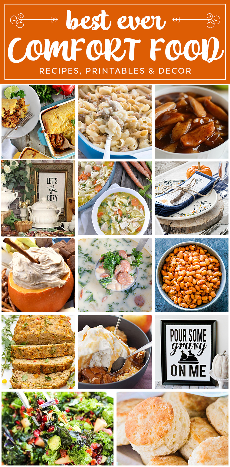 With the weather getting cooler, it's time to bring on the comfort food! We've got you covered with everything from main dishes, to desserts, to printables and decor!