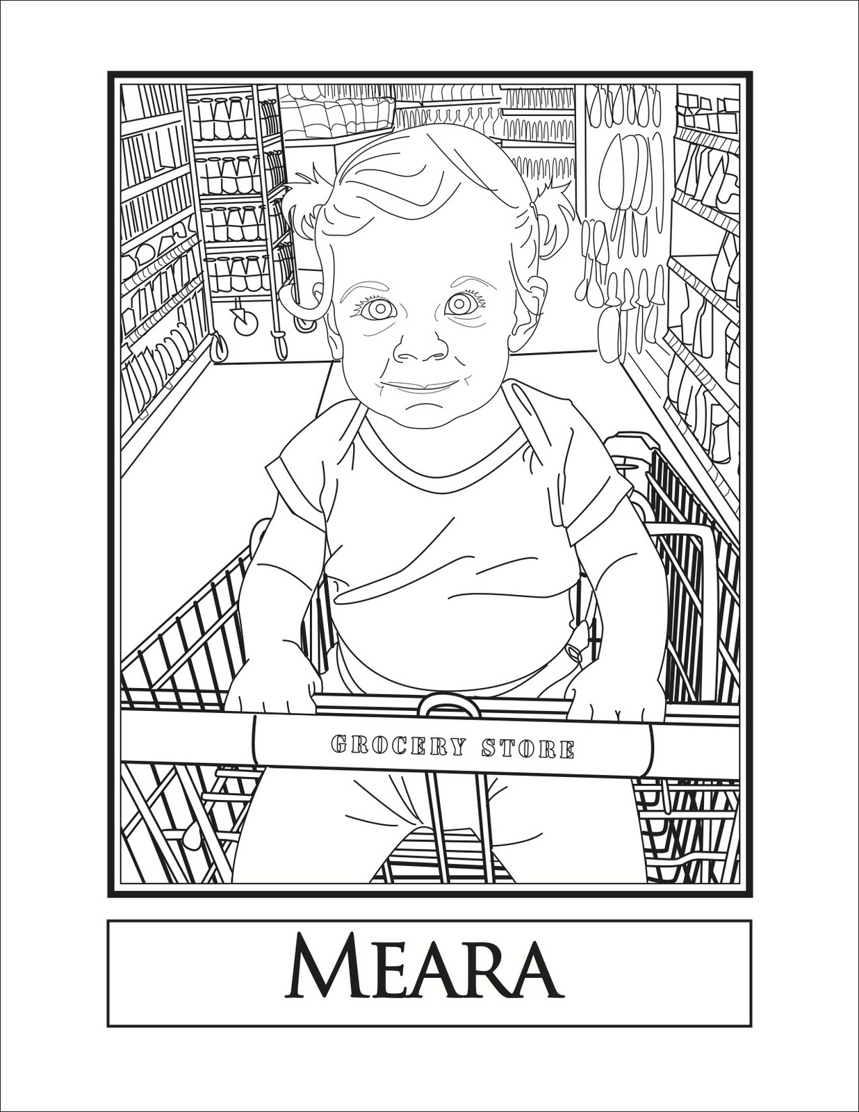 Project ART-A-DAY: My Family Coloring Book