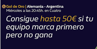 william hill Promo Gol de Oro Alemania vs Argentina 9-10-2019