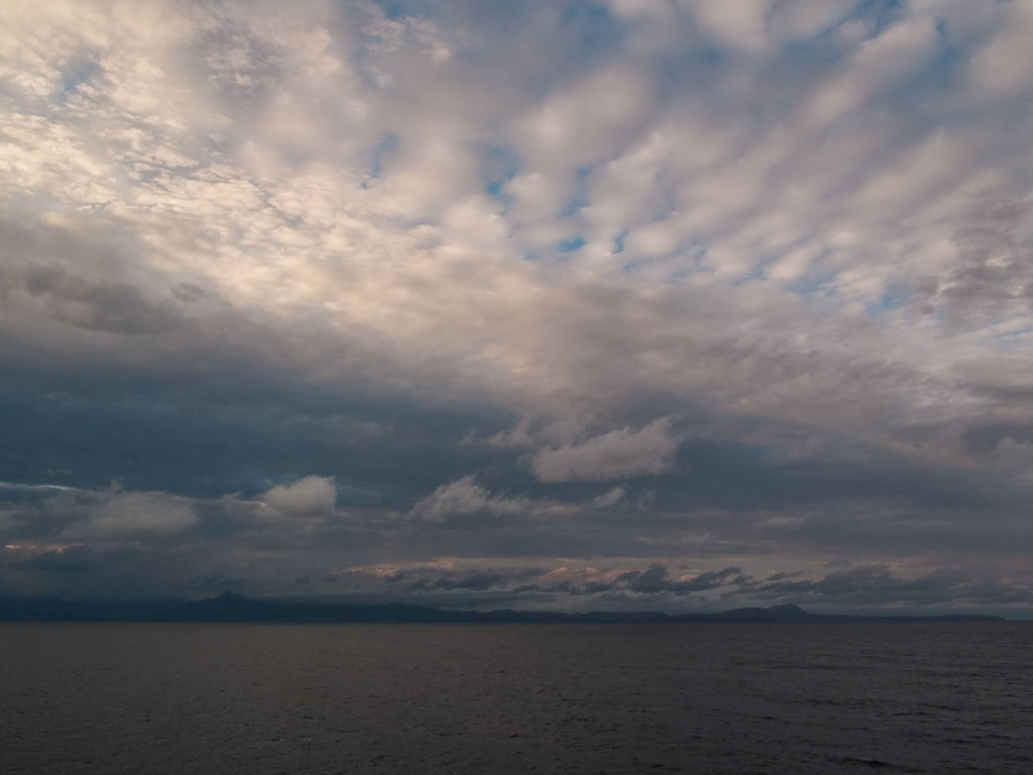 Cloud formations over the Balearic Sea.