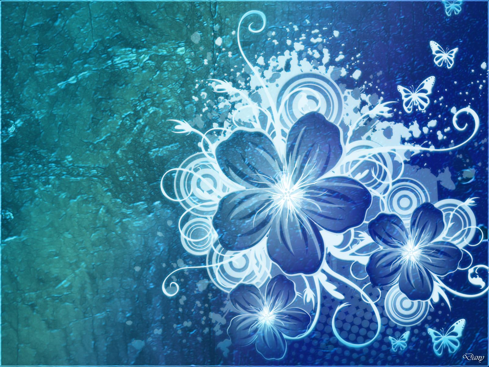Blue Flower Wallpaper | Early Flower