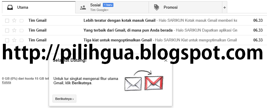 Google mail pages