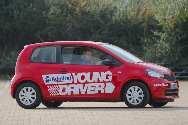 Young driver red car lesson