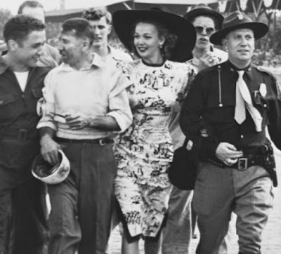 Carole Landis At The Indy 500