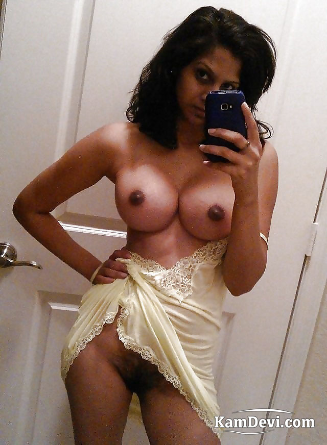 Nude playing with boobs