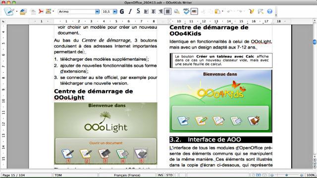 OOo4Kids - Image du Logiciel