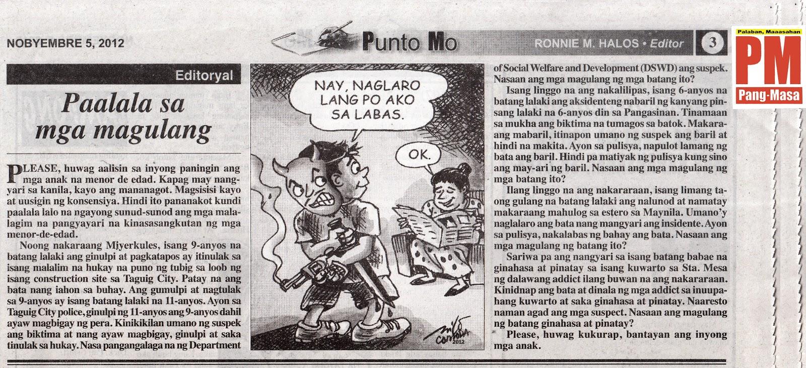 EDITORYAL - Huwag patayin ang wikang Filipino | Pilipino