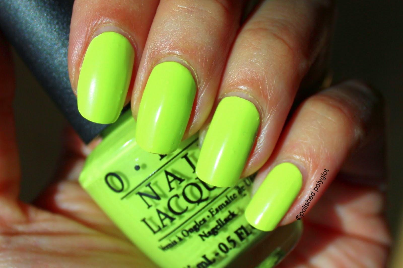 Neon Green Nail Polish Opi - Creative Touch