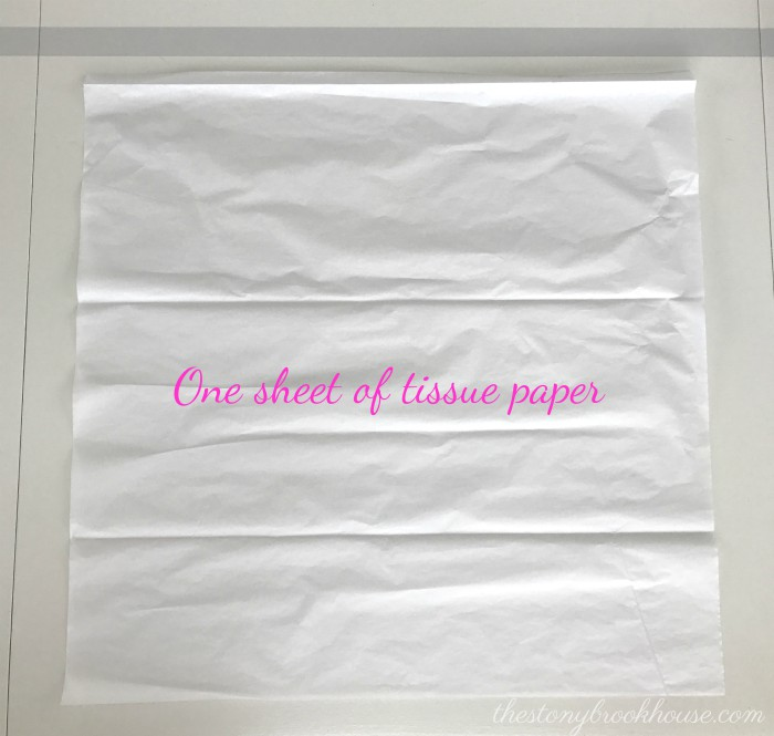1 sheet of tissue paper