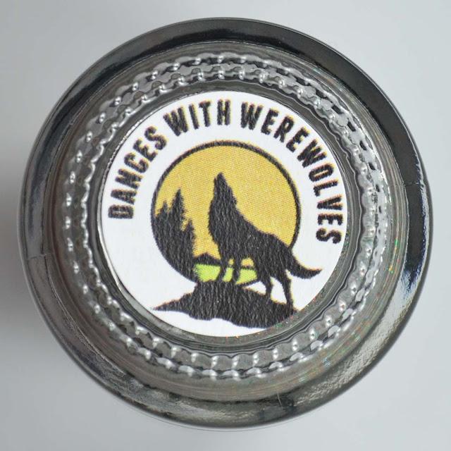 wolf nail polish label on bottom of bottle