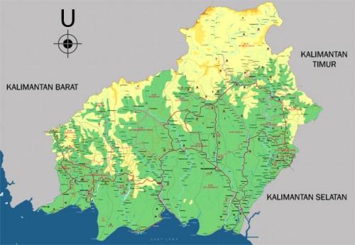 Peta Kalimantan Tengah