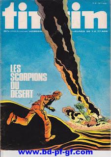 Tintin numéro 45, 1975, Les scorpions du désert