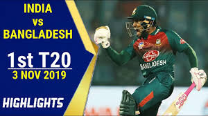 Ind vs Ban 1st T20 2019 highlights