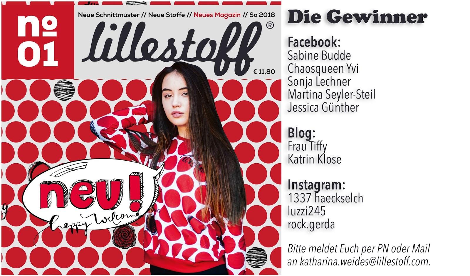 Lillestoff: lillestoff-Magazin - die Gewinner!