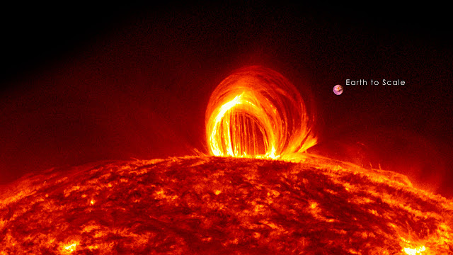 El sol dispara su destello(erupción solar) mas fuerte desde el 2017