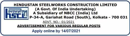 Job Vacancy Recruitment in HSCL 2021