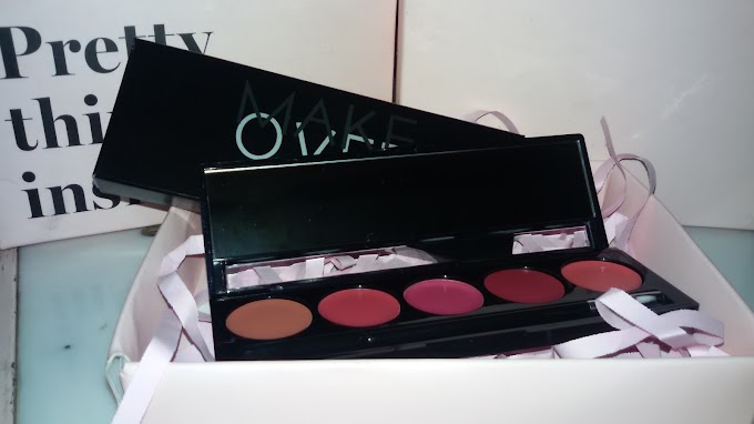 REVIEW : Lip Color Pallete Peplum Pink MAKE OVER