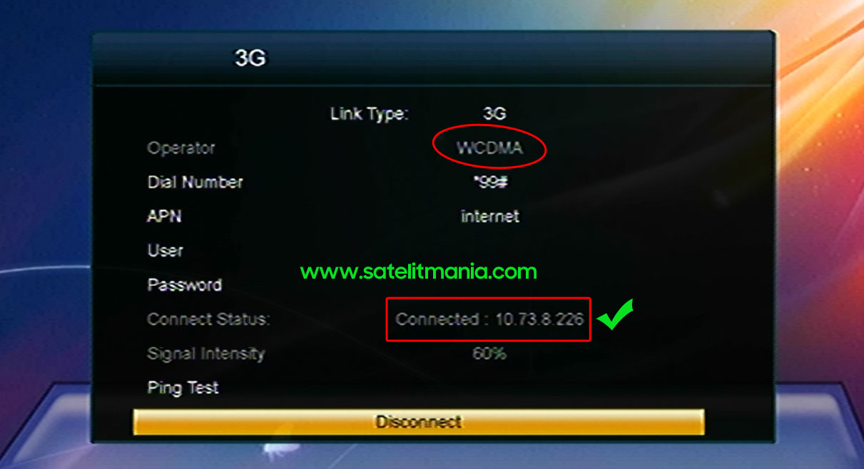 Sukses Koneksi Internet di Receiver Skybox A1 via Modem