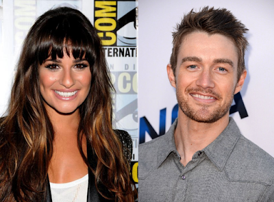 Lea Michele y Robert Buckley