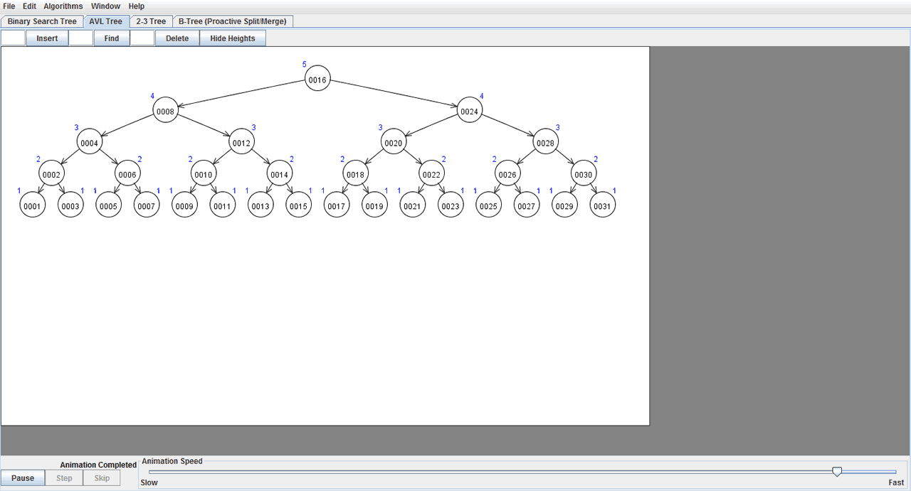 Exemplo de AVL