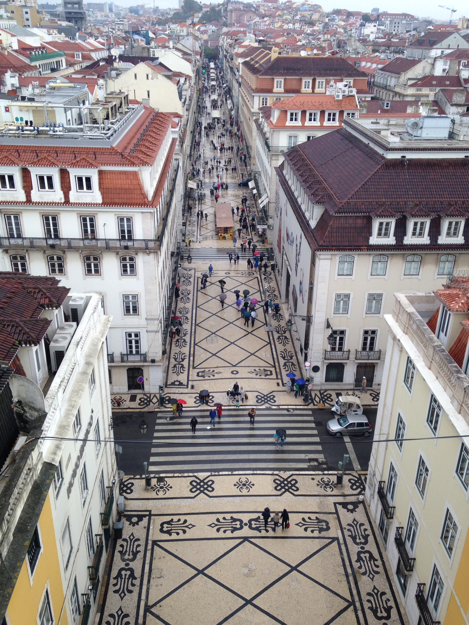 Rua Augusta, Lisbon Birds Eye View
