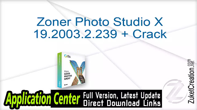 Zoner Photo Studio X 19.2003.2.239 + Crack