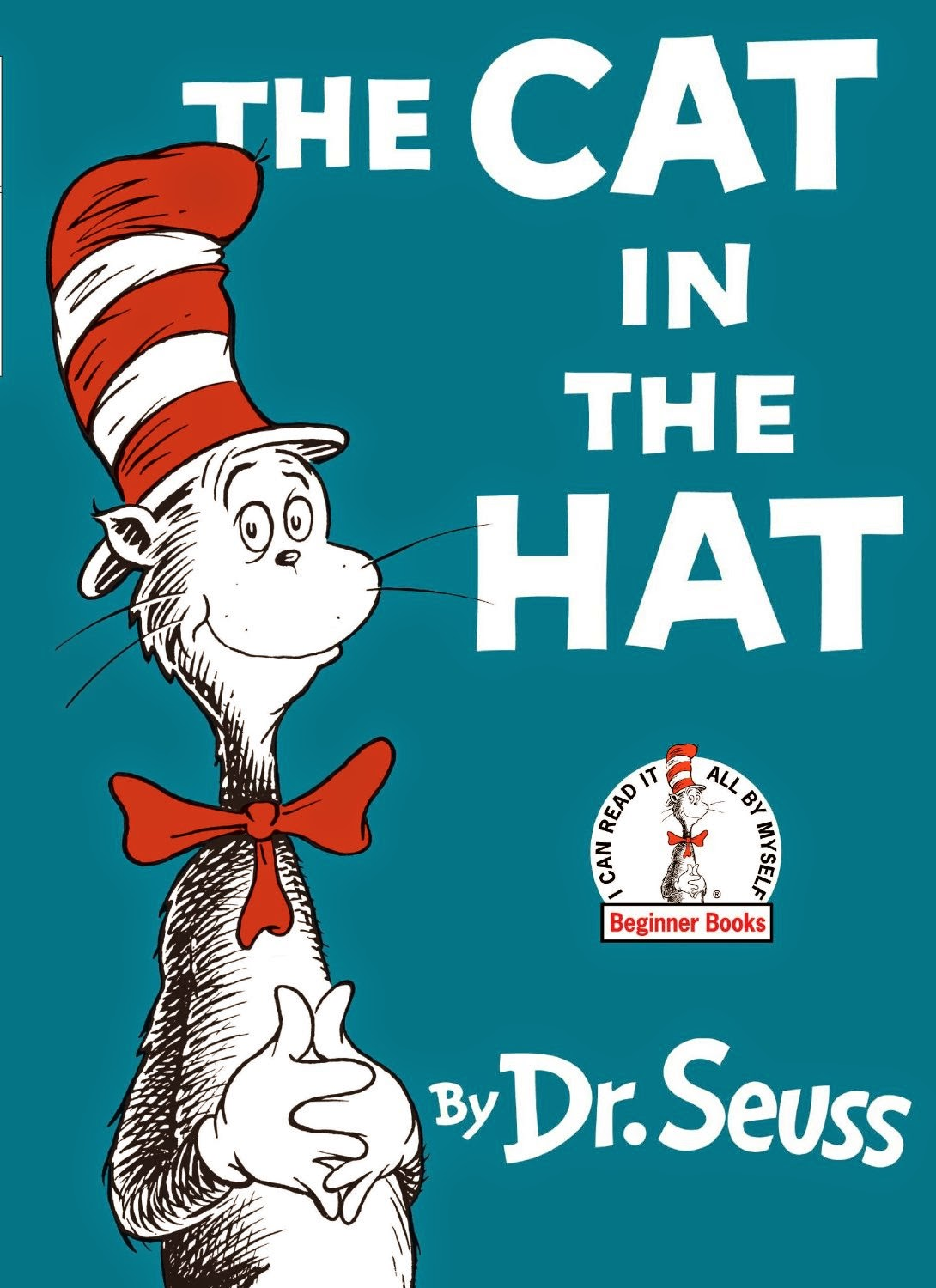 The Cat in the Hat by Dr. Seuss, part of children's book review list about cats