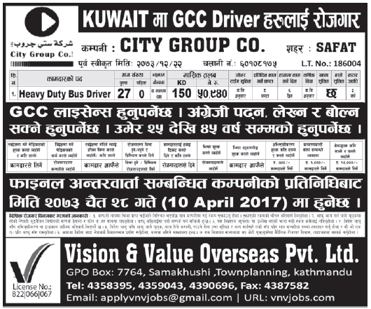 Jobs in Kuwait for Nepali, Salary Rs 50,940