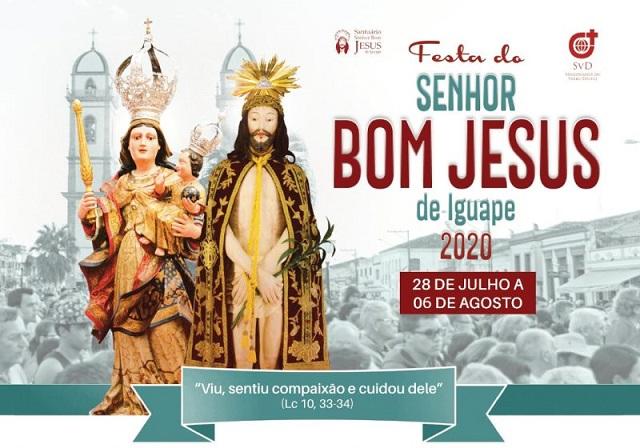 Celebrações das Missas do Bom Jesus de Iguape serão transmitidas via internet