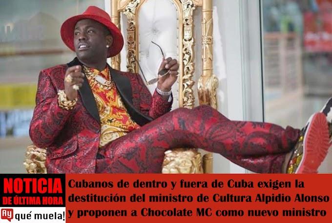 Cubanos proponen a Chocolate MC como nuevo ministro de Cultura