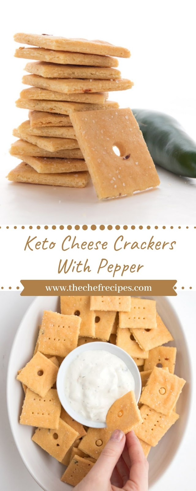 Keto Cheese Crackers With Pepper