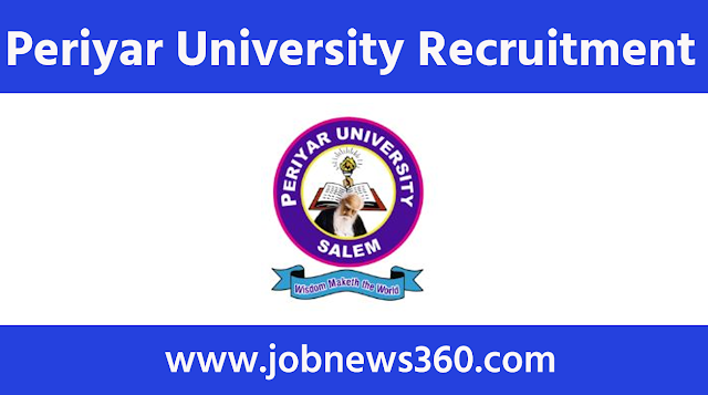 Periyar University Recruitment 2020 for Junior Research Fellow