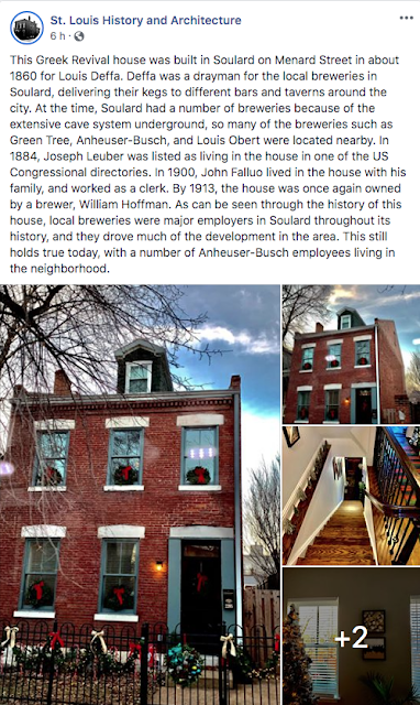 St. Louis History and Architecture Facebook Page: Louis Deffa house, Soulard