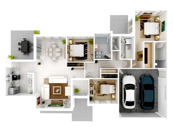 desain rumah minimalis 3 kamar tidur sederhana modern terbaru