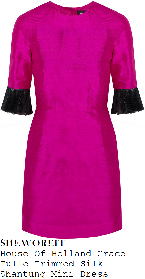 fearne-cotton-bright-pink-black-tulle-elbow-cuff-detail-half-sleeve-mini-dress-fearne-and-gok