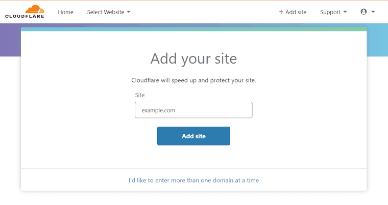 Add your blogger site to Cloudflare