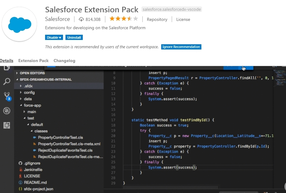 Import existing Salesforce project in Visual Studio Code