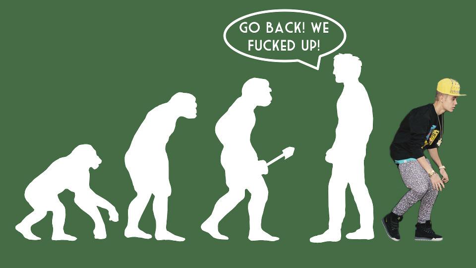 Justin Bieber is a monkey