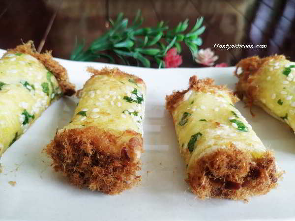 Roti gulung abon floss roll