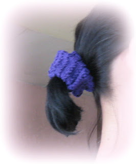 crochet purple scrunchie