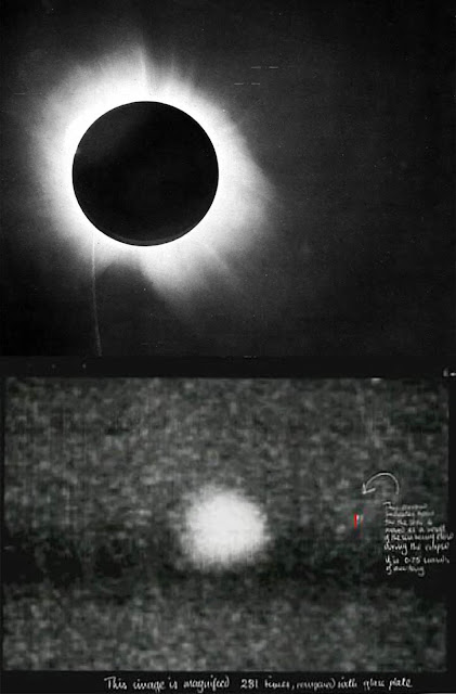 eclipse solar total de 29 de maio de 1919 - comprovação da teoria da relatividade geral de einstein - Royal Observatory - Greenwich