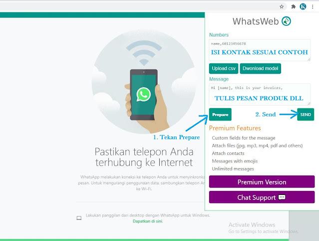 Buka Ekstensi Whatsweb