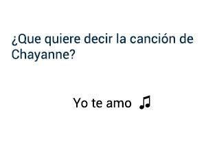 Significado de la canción Yo Te Amo Chayanne.