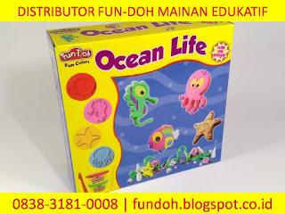 Fun-Doh Ocean life, fun doh indonesia, fun doh surabaya, distributor fun doh surabaya, grosir fun doh surabaya, jual fun doh lengkap, mainan anak edukatif, mainan lilin fun doh, mainan anak perempuan
