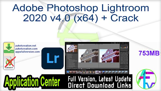 Adobe Photoshop Lightroom 2020 v4.0 (x64) + Crack