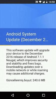 Patch sicurezza dicembre 2016 Android 7