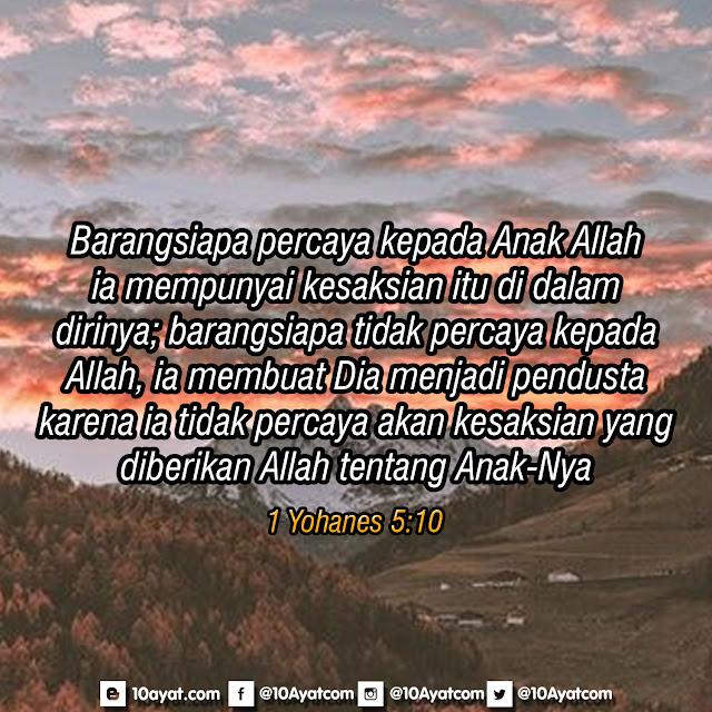 1 Yohanes 5:10