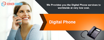 Digital home phone, business phone - Server center