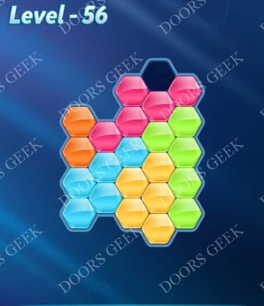 Block! Hexa Puzzle [Intermediate] Level 56 Solution, Cheats, Walkthrough for android, iphone, ipad, ipod