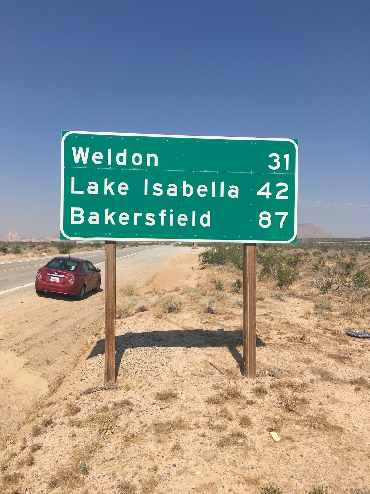 ca 14 used to part of us route 6 before the 1964 state highway renumbering at junction of what was us 6 ca178 there is a historic marker for the ghost town